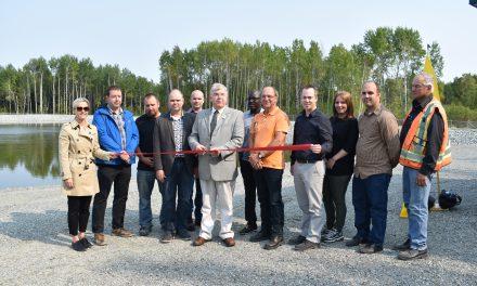 Inauguration de l'usine de traitement des eaux usées à Val-Senneville