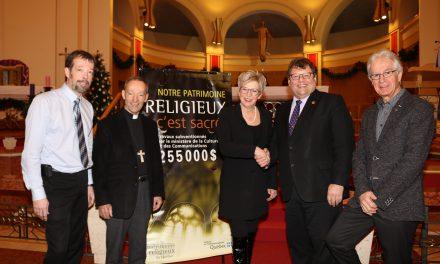 Aide financière de 255 000 $ pour la restauration de la cathédrale d'Amos