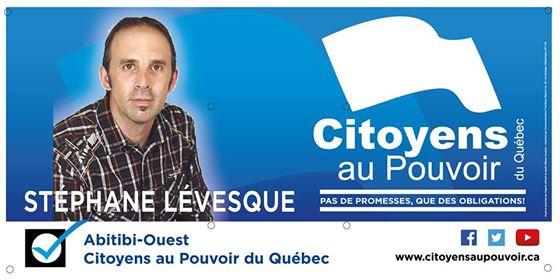 Entrevue de M. Stéphane Lévesque du parti Citoyens au pouvoir du Québec