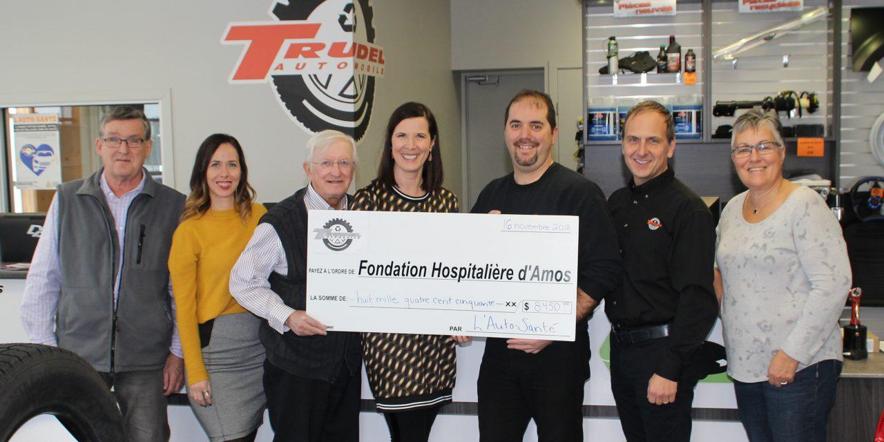 L'Auto-Santé remet près de 8 500 $ à la Fondation hospitalière d'Amos !