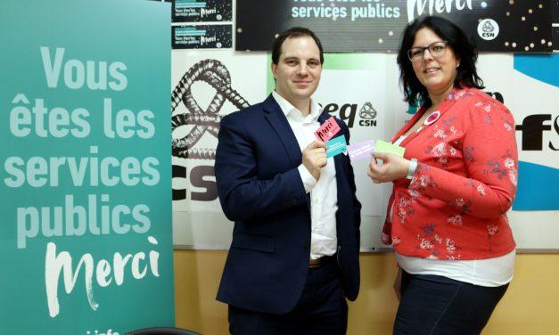 La CSN lance sa campagne «Vous êtes les services publics. Merci» en Abitibi-Témiscamingue