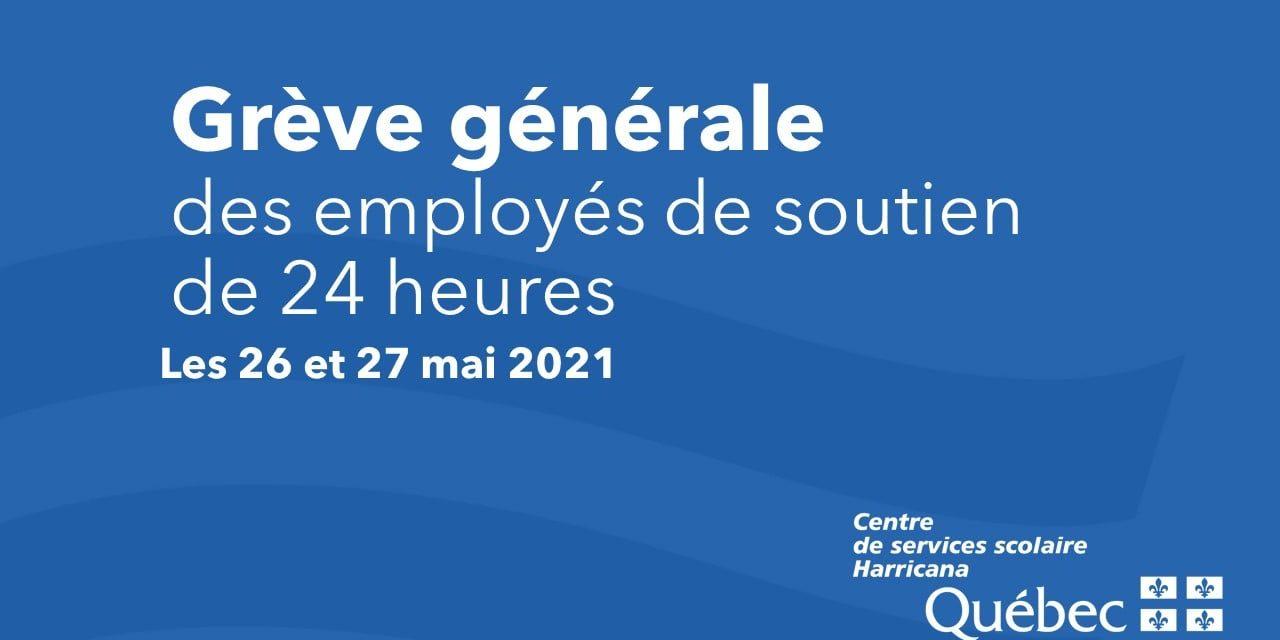 GRÈVE GÉNÉRALE DES EMPLOYÉS DE SOUTIEN LES 26 ET 27 MAI 2021